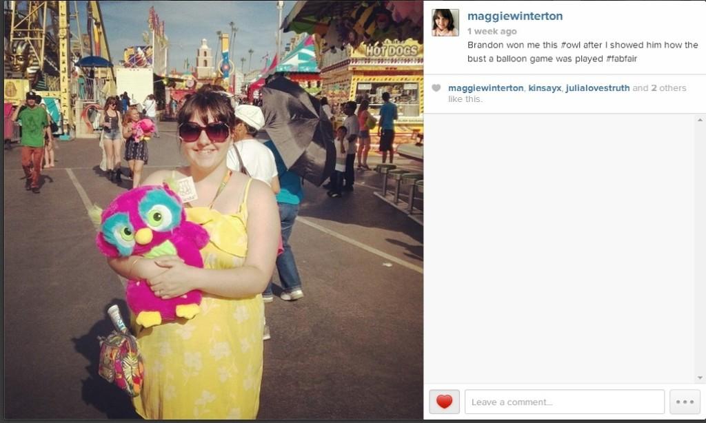 maggie winterton at the San Diego county fab fair