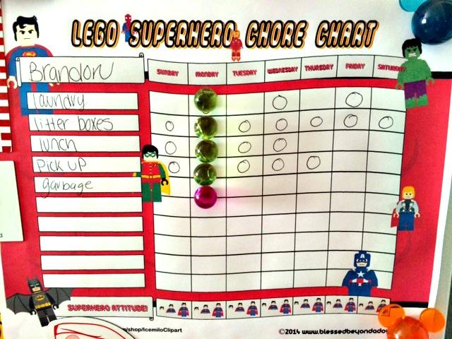 lego superhero chore chart